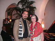 Signature MARILYN BROOKS Piano Scarf presented at Rick's Cafe in Casablanca