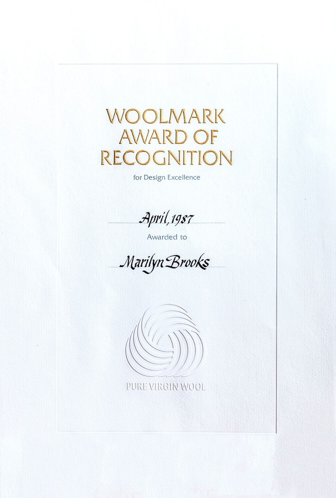 Woolmark Award of Recognition