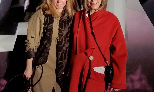 Arriving for the David Dixon Fall 2016 show at Toronto Fashion Week