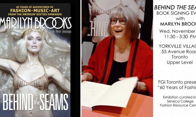 BEHIND THE SEAMS Book Signing Nov 15 at Yorkville Village.