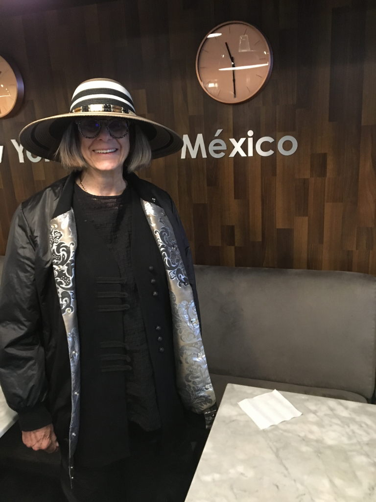 Marilyn Brooks arrives in Mexico.
