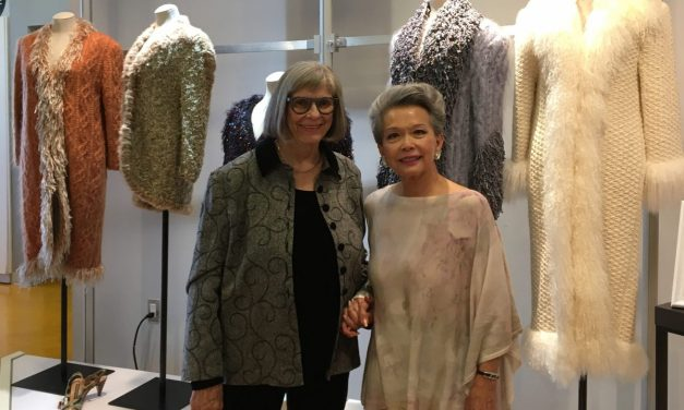 Marilyn Brooks and Vivienne Poy at Seneca College's School of Fashion
