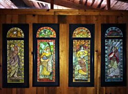 """""""Stained Glass"""" Four Seasons"""